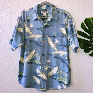 Summa Hawaiian button up shirt size L